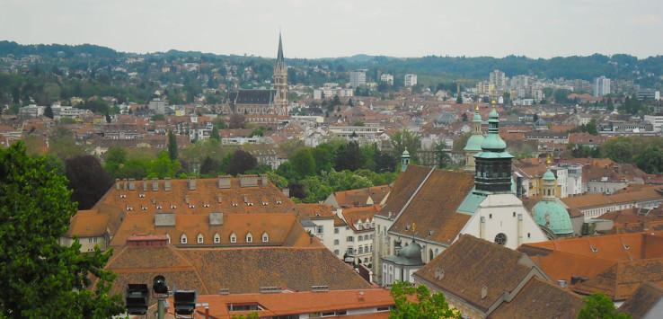 Graz vom Schlossberg aus