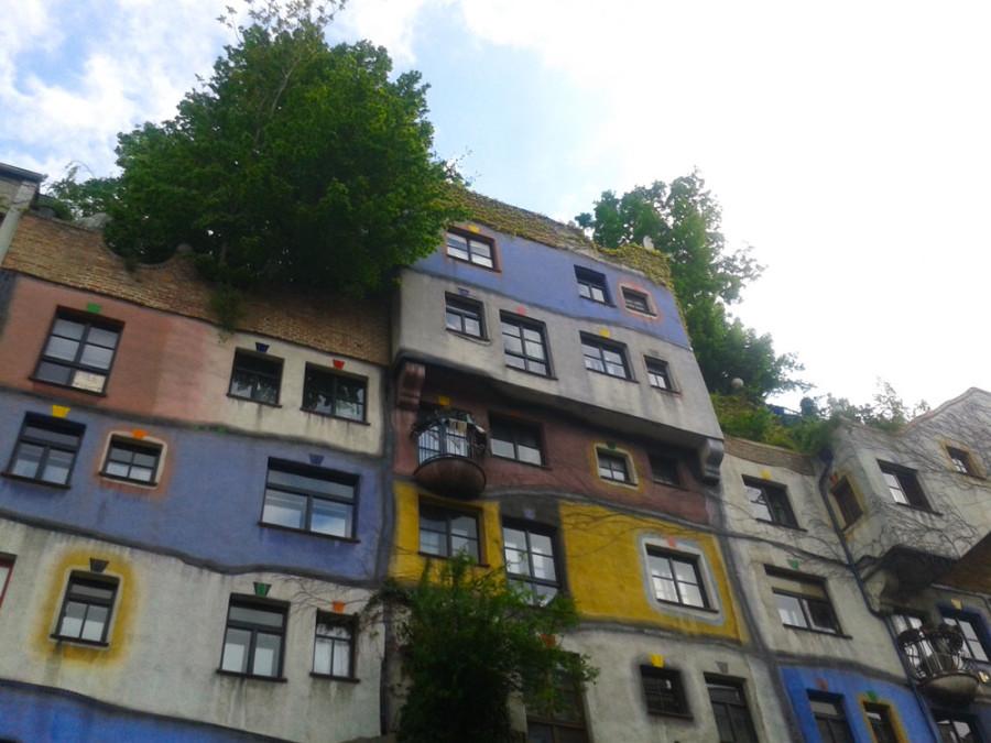 Hundertwasser house in Vienna - Austria