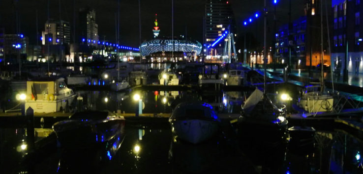 Bremerhaven at night