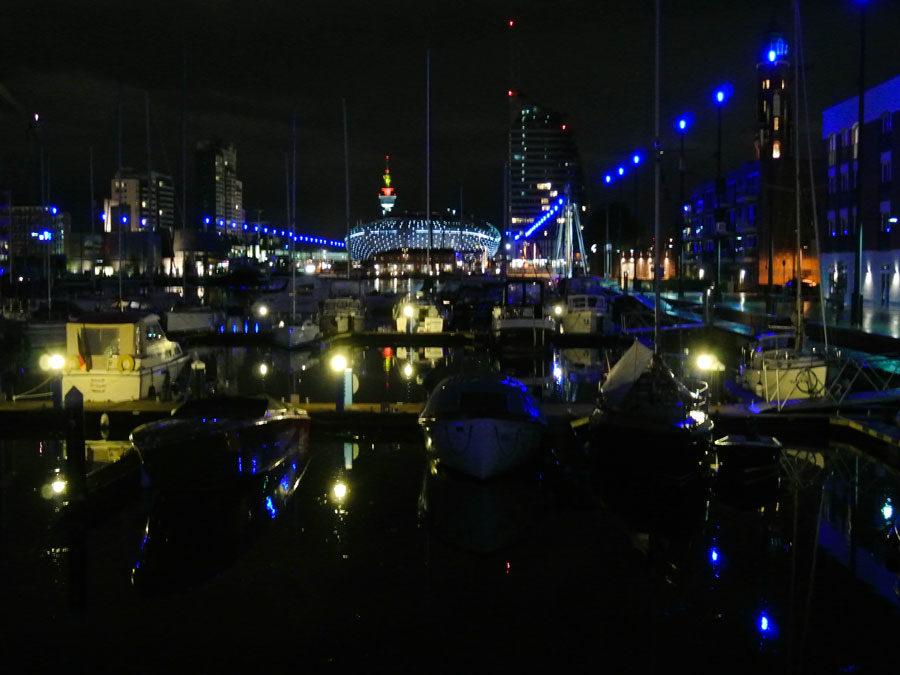 Bremerhaven at night